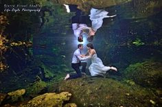 Marriage proposal in a cenote + underwater sesion – Michael & Anastasia Water Engagement Photos, Riviera Maya Mexico, Marriage Proposals, Anastasia, Underwater, Evolution, Wedding Photography, Hairstyle, In This Moment