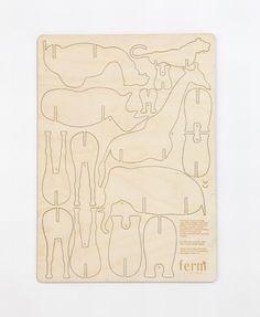 Ferm Living Plywood Animals