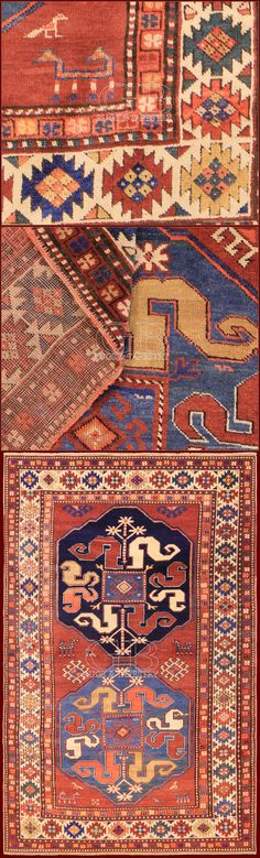 tappeto Kazak ciondzoresk a nuvole 141405346952 - Antique Cloudband Kazak  cm 210 x 128ft 6'9 x 4'2