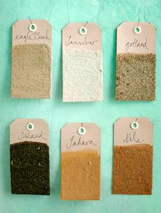 Beach Sand Memory Paper Tags for the Wall! Take a closer look here: http://www.completely-coastal.com/2015/08/beach-sand-memory-paper-tags.html