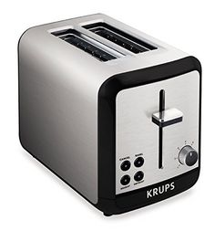 Toast bread to crispy perfection every time with the KRUPS KH311050 Savoy two-slice toaster. The high-quality toaster offers six different levels of browning to accommodate individual preferences, and its extra-deep slots fit bagels, buns, English muffins, and even thick slices of homemade... - http://kitchen-dining.bestselleroutlet.net/product-review-for-krups-kh3110-savoy-brushed-stainless-steel-toaster-with-bagel-function-and-wide-slots-2-slice-silver/