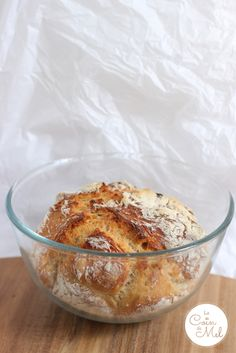 Easiest Homemade Bread Recipe Ever Prepped & Baked in Pyrex Bowl