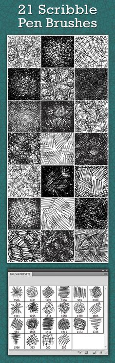 Scribble Pen Brushes  - Photoshop Brushes • Download ➝…