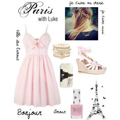 Paris - with Luke, created by imagine-5sos on Polyvore