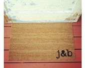 Doormats with your initials-- OBSESSED
