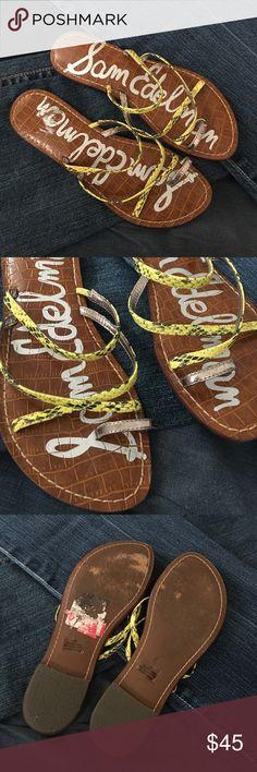 Sam Edelman Gillian sandals Yellow snake skin sandals from Sam Edelman in excellent condition Sam Edelman Shoes Sandals