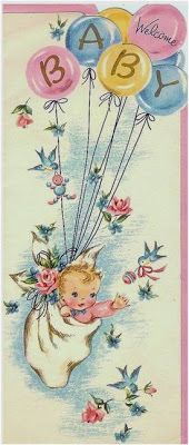 new ideas baby cards vintage children Baby Images, Baby Pictures, Vintage Greeting Cards, Vintage Postcards, Baby Kind, Baby Love, Decoupage, Images Vintage, Old Cards