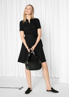 & Other Stories image 2 of Blouse Dress  in Black