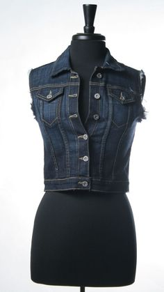 This is going over all my strapless sundresses!  <3  Denim Vest