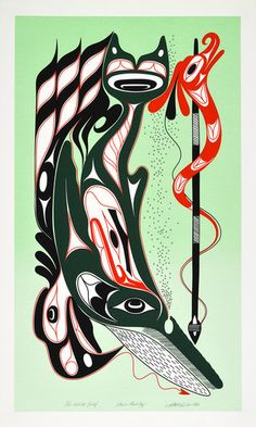 Not a Good Day (1993) by Art Thompson, Nuu-chah-nulth (Ditidaht) artist (AT1993-01)