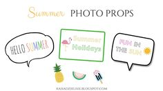 made by kate: Summer: printable photo props