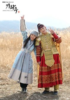 """The Korean Royal Couple"" from hit drama Empress Ki. Korean Drama Movies, Korean Actors, Korean Traditional, Traditional Dresses, Kdrama, Ji Chang Wook Healer, Ji Chan Wook, Ji Hoo, Joo Jin Mo"