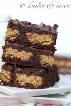 Whole Wheat PB Girl Scout Brownies from @Caroline Edwards | chocolate and carrots