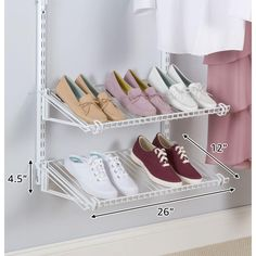 Rubbermaid Configurations White Add-On Shoe Shelf Kit