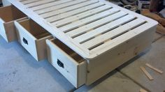 Twin Bed with Drawers