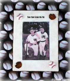 Baseball photo canvas made with Mod Podge Photo Transfer Medium