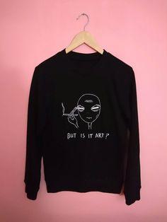 Tired Alien  But is it Art Sweatshirt
