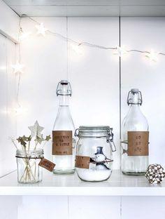 Flessen met labels | Bottles with labels | Fotografie Sjoerd Eickmans | Styling Kim van Rossenberg | vtwonen december 2014