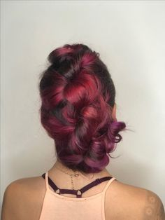 Pink hair braid by Madison Jane #hair #updohair #pinkhair
