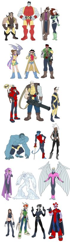 This rendition of the X-men was done by illustrator Matthew Humphreys AKA: AmericanNinjaX on Deviantart. It shows us what would the X-men might look like if it was drawn as Disney characters. I particularly liked the old school Wolvie and the Mohawk haired Storm.