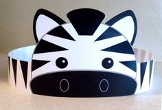 Zebra Paper Crown Printable by PutACrownOnIt on Etsy