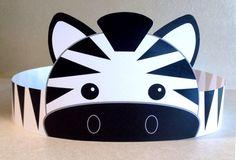 Zebra Paper Crown  Printable van PutACrownOnIt op Etsy