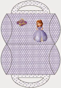 Sofia the First Party: Free Printable Pillow Boxes.