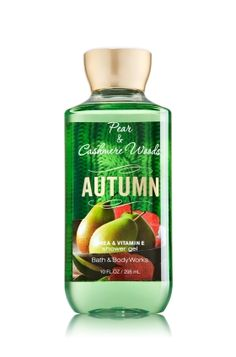 Autumn - Shower Gel - Bath & Body Works - Wash your way to softer, cleaner skin with a rich, bubbly lather bursting with fragrance. Moisturizing Aloe Vera and Vitamin E combine with skin-loving Shea Butter in our most irresistible, beautifully fragranced formula!