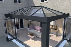 Find an Ultrasky roof and create a lantern roof or orangery roof that meets your design needs. Look at our lantern conservatory roof pictures for inspiration. Orangerie Extension, Extension Veranda, House Extension Design, Conservatory Extension, Orangery Extension Kitchen, Pergola Design, Roof Design, House Design, Design Design