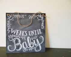 Baby drawing, chalkboard look, customize with your due date. 3 ...