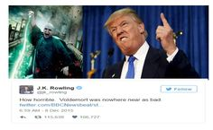 J.K. Rowling Compares Donald Trump to Voldemort