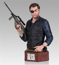 Walking Dead The Governor Mini Bust - Gentle Giant - Action Figures Toys News ToyNewsI.com