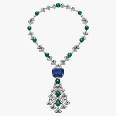 Bulgari - For the Diva's Dream Necklace, executive director and gem-buyer Lucia Silvestri convinced a gem-cutter to whittle a 48-carat oval sapphire to a 45-carat cushion cut. The result was the standout of the house's fashion show–cum–garden party. Meanwhile, while the house's latest take on the Serpenti—in pendant form—took home the National Jewelry Institute award.