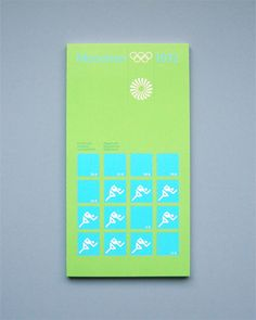 Munich 1972 Olympics Regulations Athletics - Otl Aicher & Rolf Müller