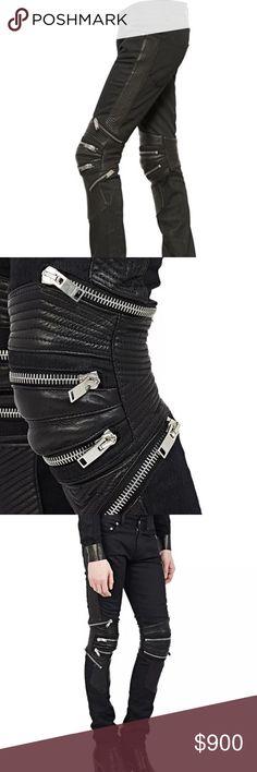 Authentic Saint Laurent biker denim runway jeans Very good used condition. Moto style. Zipper details. Saint Laurent Jeans Skinny