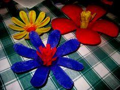 Flores de botellas plásticas