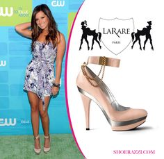 13f14f320cd4 Ashley Tisdale in LaRare Ankle Strap Chain Pumps
