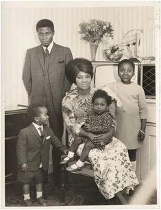 Family portrait, London, England, United Kingdom, 1966, photographer unknown.