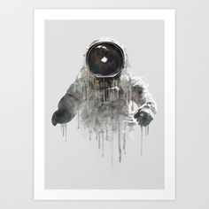 Buy Astronaut II Art Print by Daniel Taylor. Worldwide shipping available at Society6.com. Just one of millions of high quality products available.