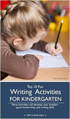 Top 10 Fun Writing Activities For Kindergarten: At this age, they have ideas and thoughts that cannot be expressed by writing. But if trained properly, they will develop good handwriting and writing skills.