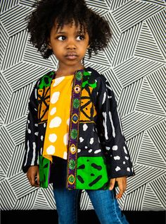 Jacket in African Print + Trim - so striking!! in the latest issue of Stylo Magazine