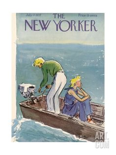 The New Yorker Cover - July 17, 1937 Premium Giclee Print by Alice Harvey at Art.com