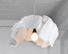 I'd like to make that an art Project - making lamps out of styrofoam. Looks nice and should be not too difficult.   kwangho lee: lifelike design