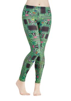 ModCloth mainboard leggings geekgirl