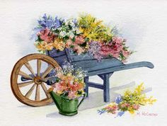 'Flower Cart' by Maureen McCarthy