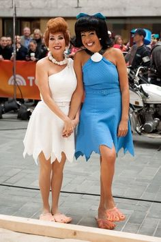 Kathie Lee Gifford Photos Photos: 'Today' Hosts Dress Up for Halloween Costume Halloween, Today Show Halloween Costumes, Diy Costumes, Halloween 2013, Halloween Costumes For Bestfriends, Costume Ideas, Wilma Flintstone Costume, Flintstones Costume, Girl Clothing