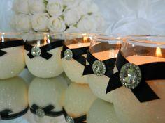 Wedding Centerpiece Wedding Decorations Silver Black by KPGDesigns