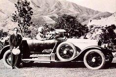 Maharaja of Patiala, Bhupinder Singh on his Rolls Royce.