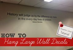 How to Hang Large Vinyl Wall Decals (And Giveaway) ~ Silhouette School