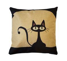 Mr. Kitster Toss Pillow #cat